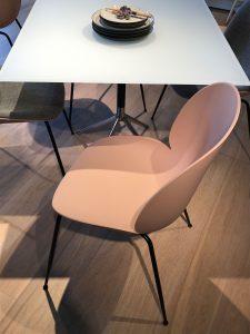 Pink pastel beetle chair