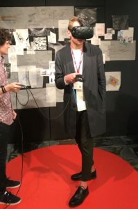 Testing out VR at NeoCon