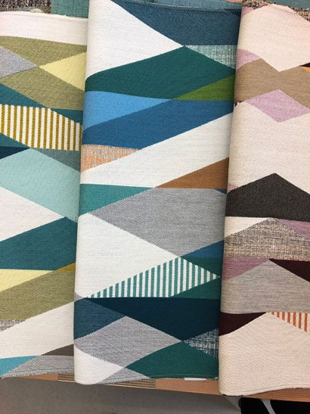 DesignTex pattern of Sunbrella Contract fabric