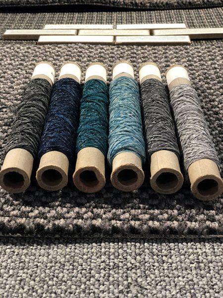 Yarn Samples in Mohawk Showroom