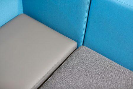vinyl and fabric cushions