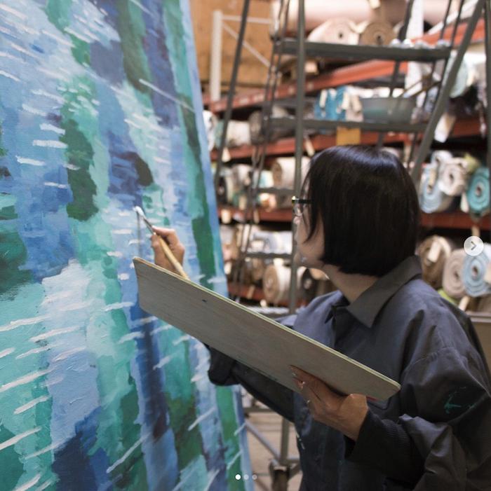 Iris Wang painting watercolor