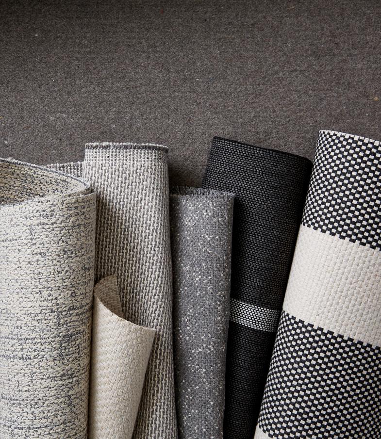 sunbrella grey and white metallic fabric